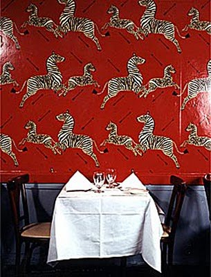 Ginos Restaurant Zebra wallpaper