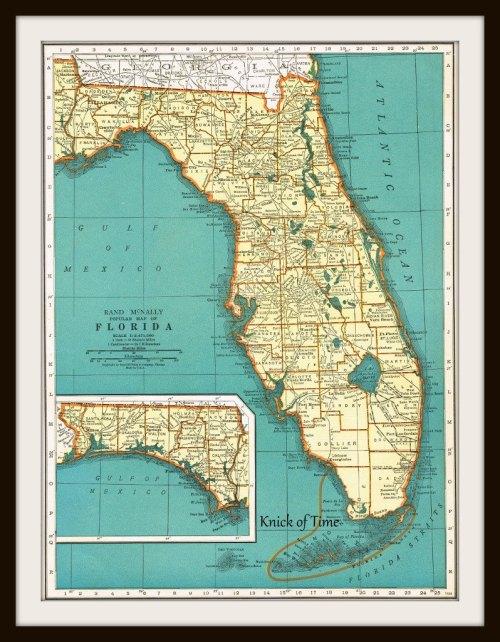 Florida vintage Map